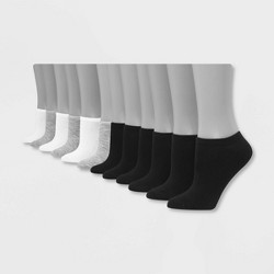 Hanes Women's Lightweight 12pk No Show Athletic Socks 5-9