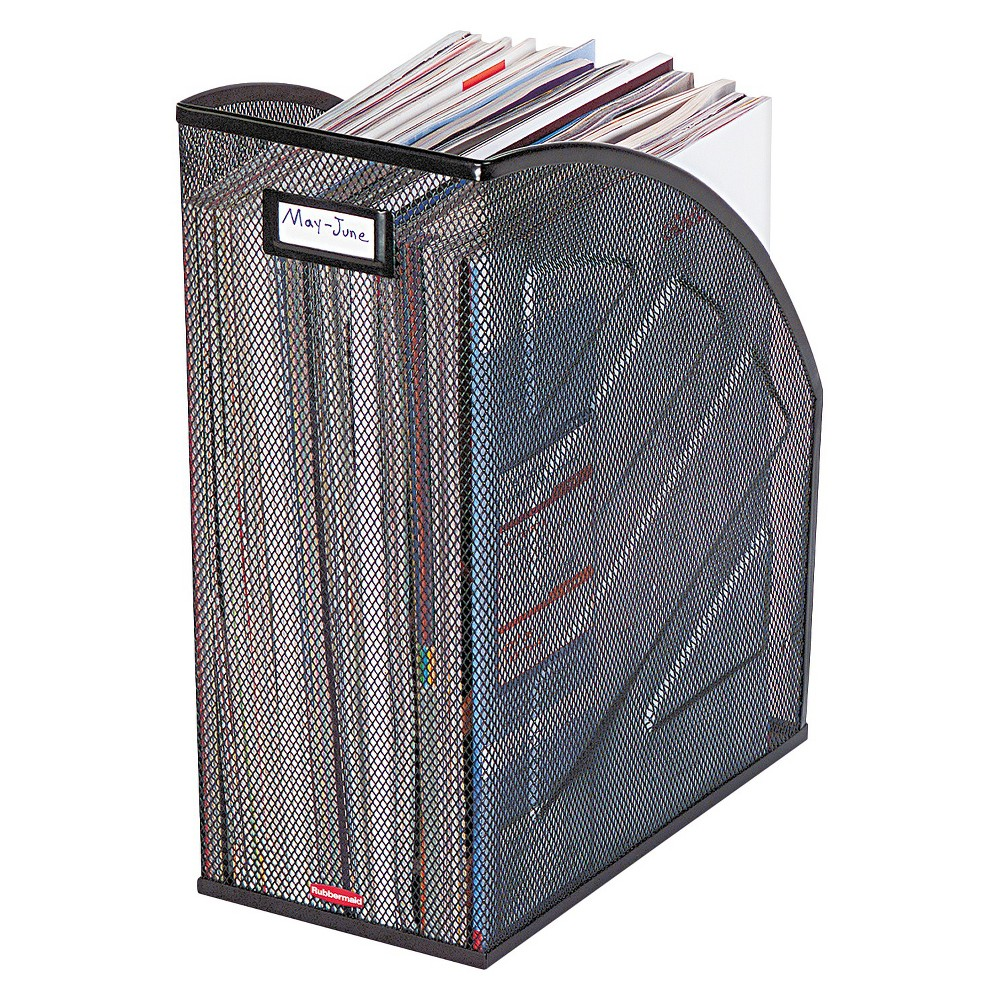 Image of Rolodex Nestable Rolled Mesh Steel Jumbo Magazine File, 6 1/2 x 10 x 12 1/2, Black