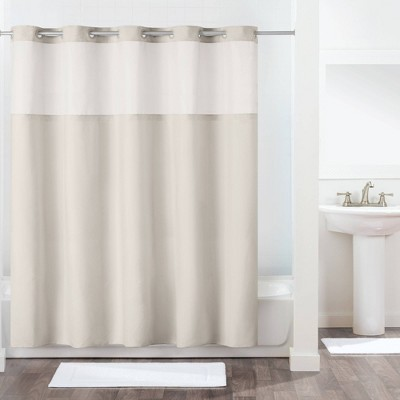 Antigo Shower Curtain with Fabric Liner Gray - Hookless