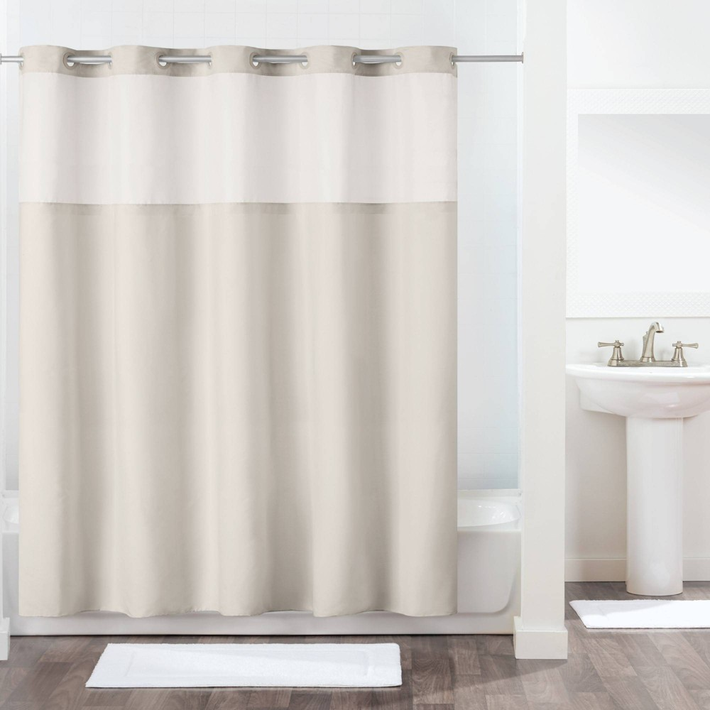 Image of Antigo Shower Curtain with Fabric Liner Gray - Hookless