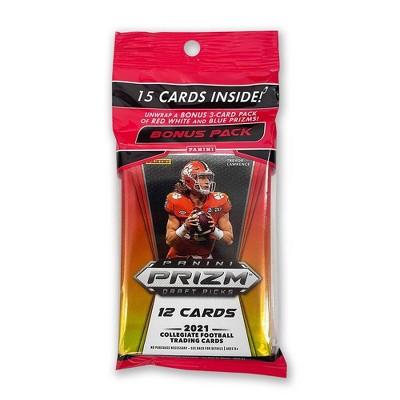 2021 Panini NFL Prizm Draft Picks Football Trading Card Multipack – Box of 12 Packs