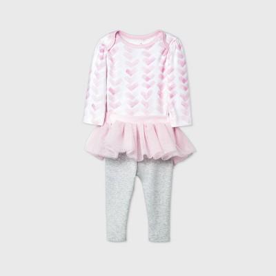 Baby Girls' 2pk Unicorn Adventure Tutu Skegging Set - Cloud Island™ Pink Newborn