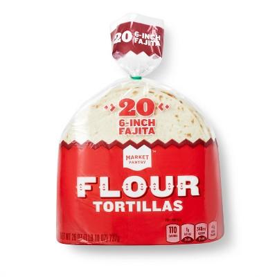 "6"" Flour Tortillas - 20ct - Market Pantry™"