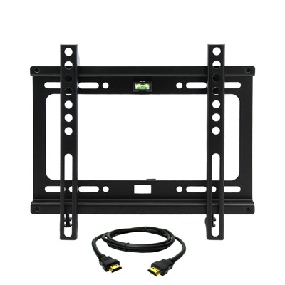 MegaMounts Fixed Wall Mount for 17-42 in. Displays With HDMI