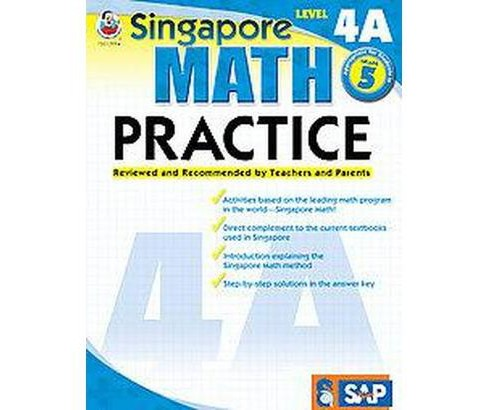 Singapore Math Practice : Level 4a (Workbook) (Paperback) - image 1 of 1