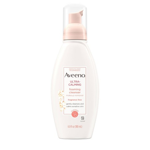 Unscented Aveeno Ultra-Calming Foaming Cleanser For Sensitive Skin - 6 fl oz - image 1 of 9