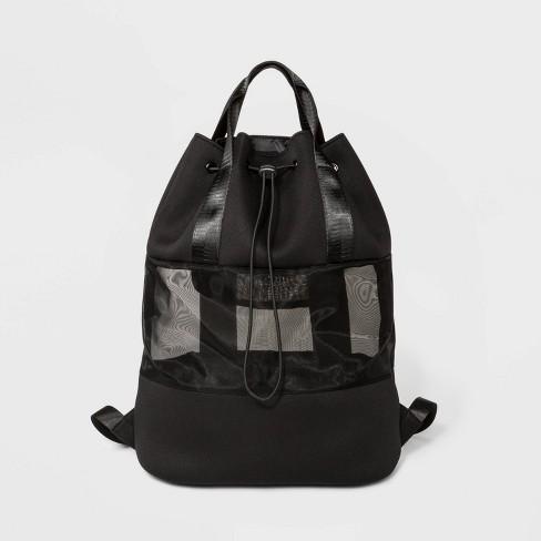 Neoprene And Mesh Backpack - Shade & Shore™ Black - image 1 of 4