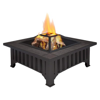 Lafayette 33.6  Wood Burning Fire Pit - Square - Real Flame