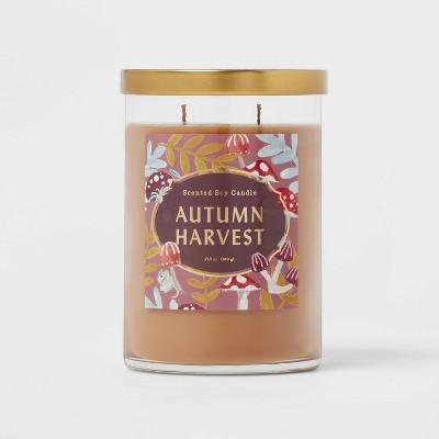 25.1oz Lidded Glass Jar 2-Wick Autumn Harvest Candle - Opalhouse™
