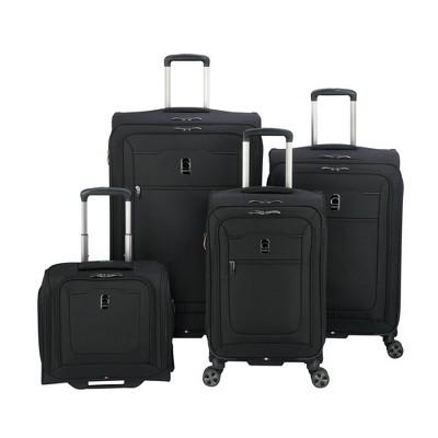 DELSEY Paris Hyperglide 4pc Luggage Set - Black