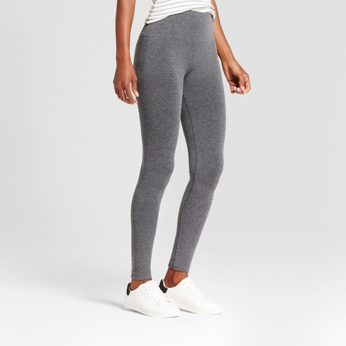 c859ccf863c9db Women's High Waist Twill Seamless Leggings - A New Day™ Charcoal Heather  Gray