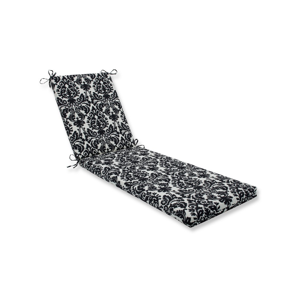Essence Indoor Outdoor Chaise Lounge Cushion Black White Pillow Perfect