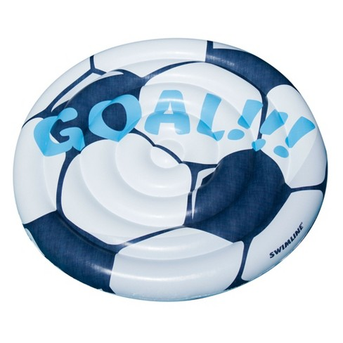 Swimline 90531 Giant Soccer Ball Inflatable Swimming Pool Toy Raft ...