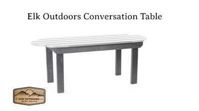 Amazing Mountain Bluff Essential Patio Conversation Table Elk Outdoors Download Free Architecture Designs Lectubocepmadebymaigaardcom