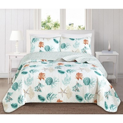 Great Bay Home Coastal Themed Quilt Set