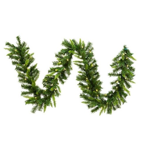 """9ft x 12"""" Vickerman Imperial Pine Garland with 200 Tips and 50 Warm White LED Lights - image 1 of 2"""