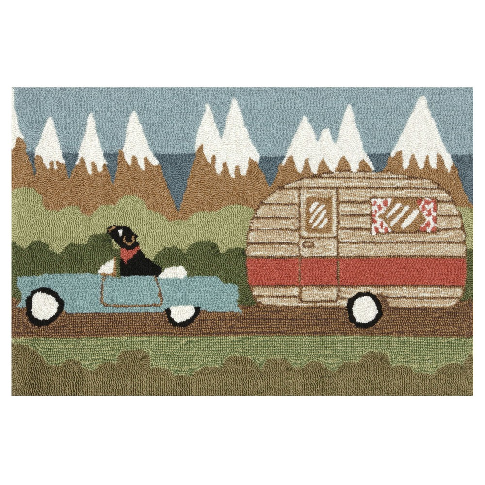 """Image of """"Frontporch Indoor/Outdoor Camping Dog Rug 24""""""""X36"""""""" Green - Liora Manne, Size: 2'X3'"""""""