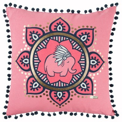 Simply Southern Animal Print Throw Pillow Pink - Rizzy Home