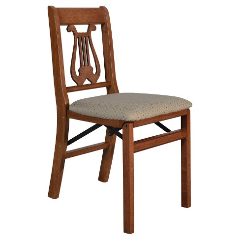 Terrific 2 Piece French Cane Folding Chair Cherry Stakmore Caraccident5 Cool Chair Designs And Ideas Caraccident5Info
