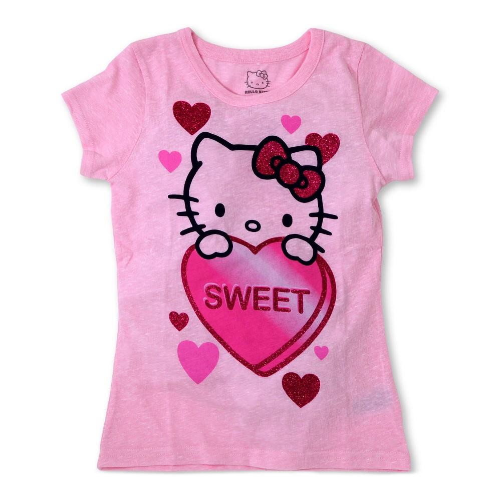 Plus Size Girls' Hello Kitty T-Shirt - Pink M Plus