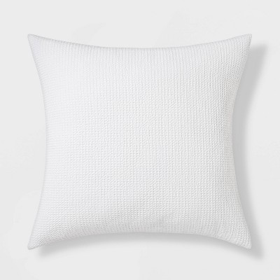 Euro Washed Waffle Weave Throw Pillow White - Threshold™