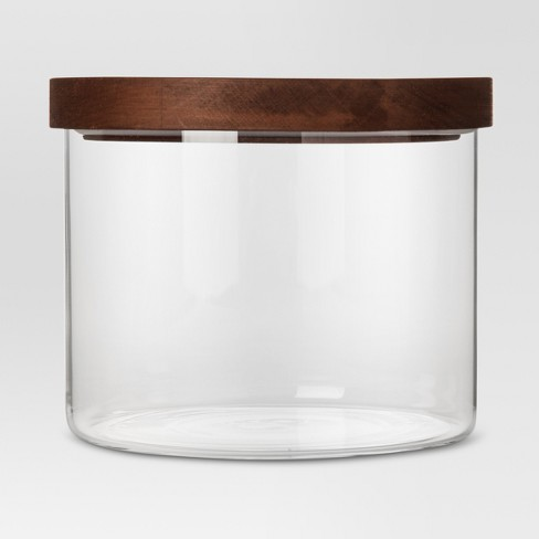 78oz Glass Storage Canister with Wood Lid - Threshold™ - image 1 of 1