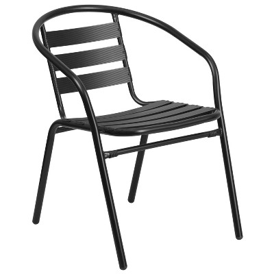 Flash Furniture Metal Restaurant Stack Chair with Aluminum Slats