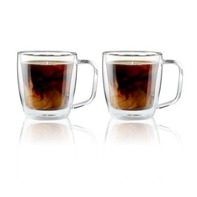 Henckels Double-Wall Glassware 2-pc 12oz. Glass Coffee Mug Set