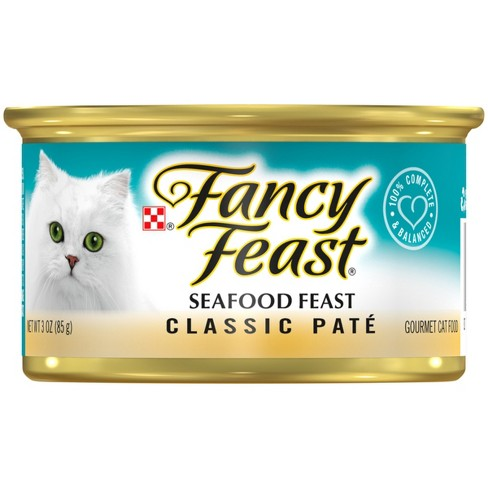 Purina® Fancy Feast Classic Seafood Wet Cat Food - 3oz Can - image 1 of 4