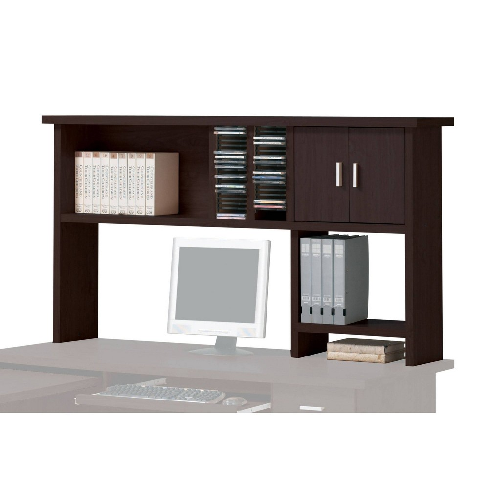 Image of Linda Computer Hutch with 2 Door Espresso Brown - Acme Furniture