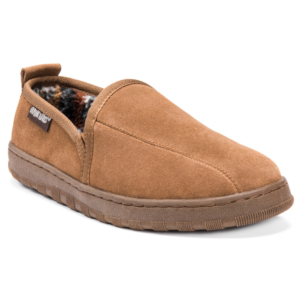 Men's Muk Luks Berber Suede Slip On Slippers - Tan 9