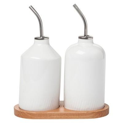 Modern by Dwell Magazine Stoneware Oil and Vinegar Set