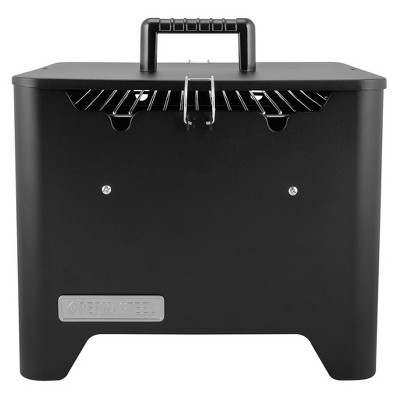 Permasteel PG-40C10-BK Square Portable Charcoal Grill - Black