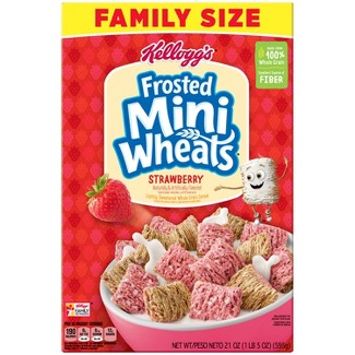 Frosted Mini Wheats Strawberry Breakfast Cereal - 21oz - Kelloggs