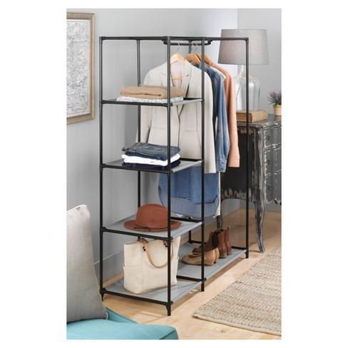 whitmor freestanding closet wardrobe target - Closet Wardrobe