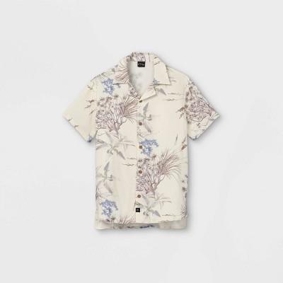 Boys' Short Sleeve Button-Down Shirt - art class™ Cream