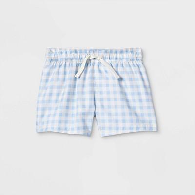 Baby Boys' Gingham Swim Shorts - Cat & Jack™ Blue