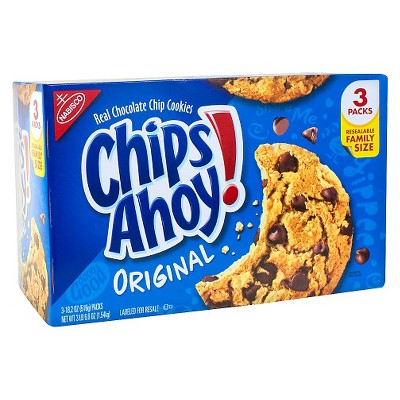 Nabisco Chips Ahoy! Original Chocolate Chip Cookies Family Size - 13.2oz/3pk