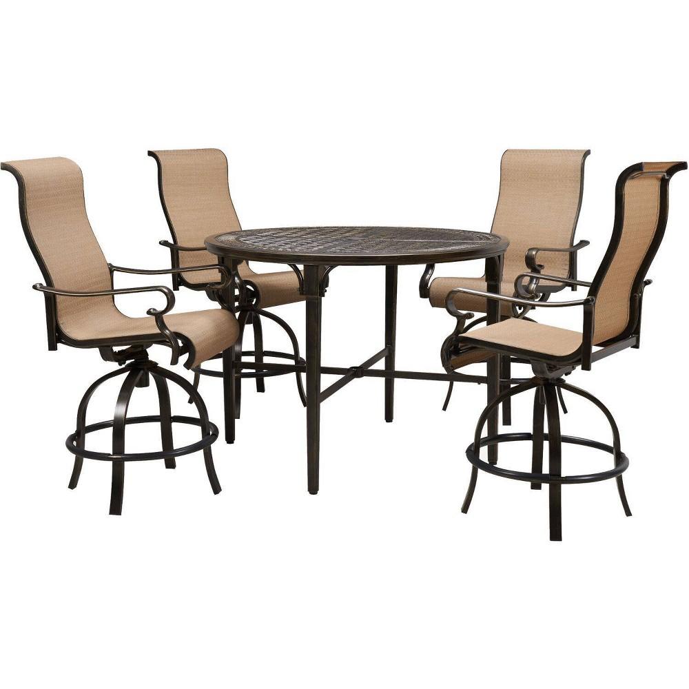 Image of Brigantine 5pc Swivel Bar Chair Dining Set - Hanover