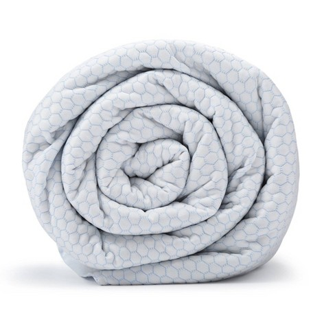 """48"""" x 74""""  20lb Chill Weighted Blanket with Removable Cover White - BlanQuil - image 1 of 4"""
