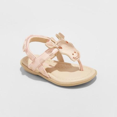 Toddler Girls' Ezra Giraffe Thong Sandals - Genuine Kids™ from OshKosh® Rose Gold 2 - image 1 of 3