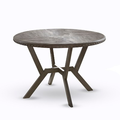 Alamo Round Dining Table Gray - Steve Silver Co.