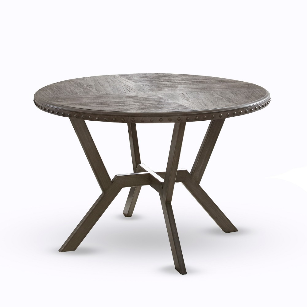 Alamo Round Dining Table Gray - Steve Silver