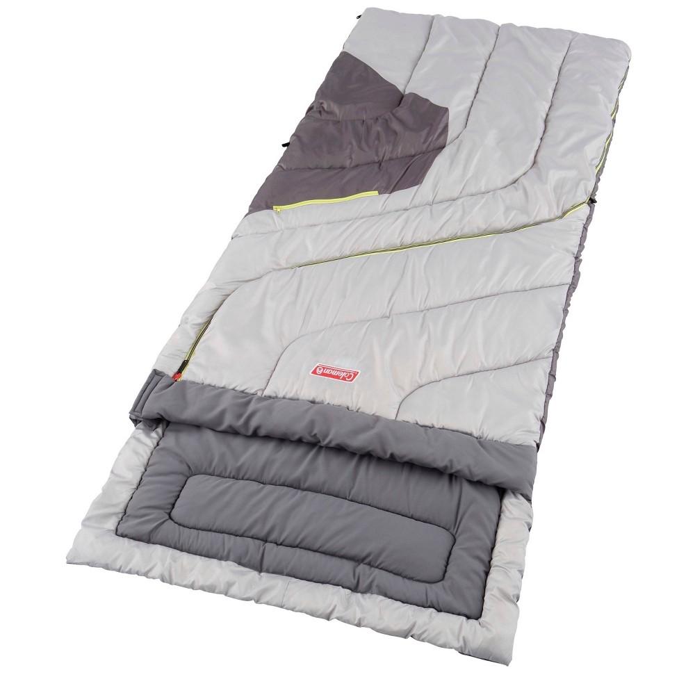 Image of Coleman Adjustable Comfort 50 Degrees Fahrenheit Sleeping Bag - Gray, Adult Unisex, White
