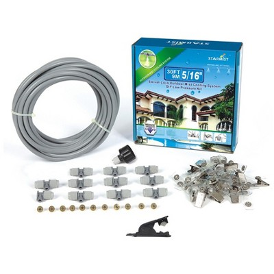 5/16 Swivel Lock Mist Cooling Kit 20' - Gray - Sunneday