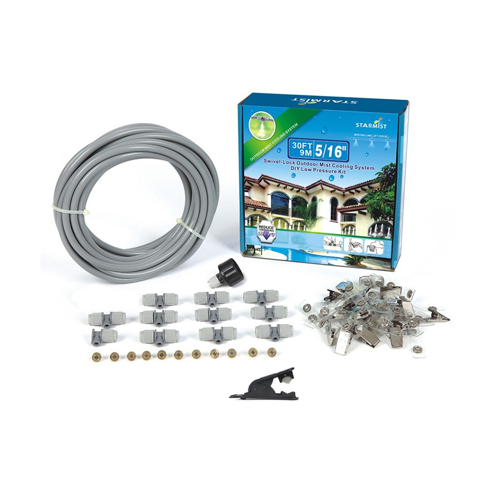 Image of 5/16 Swivel Lock Mist Cooling Kit 20' - Gray - Sunneday