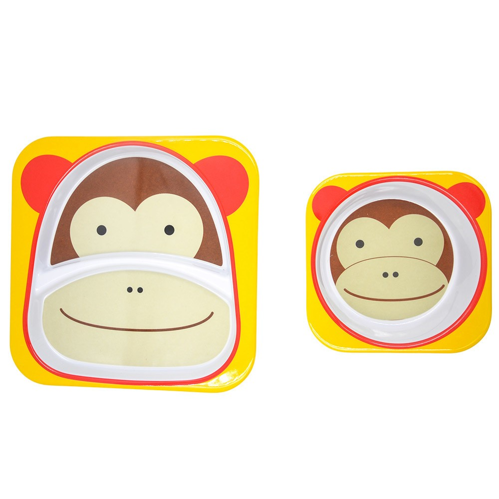 Image of Skip Hop 2pc At Home Plate and Bowl Set - Monkey