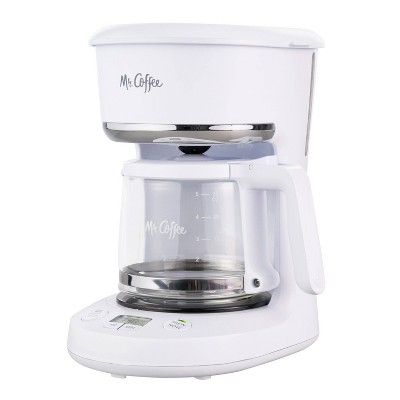Mr. Coffee 5-Cup Programmable Coffee Maker - White