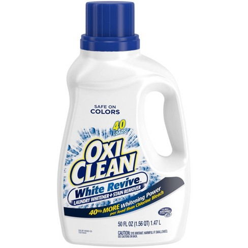OxiClean White Revive Liquid Laundry Whitener + Stain Remover - 50 fl oz - image 1 of 3