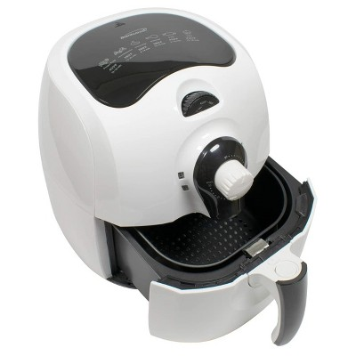 Brentwood 3.7 Quart Electric Air Fryer in White with Timer and Temperature Control